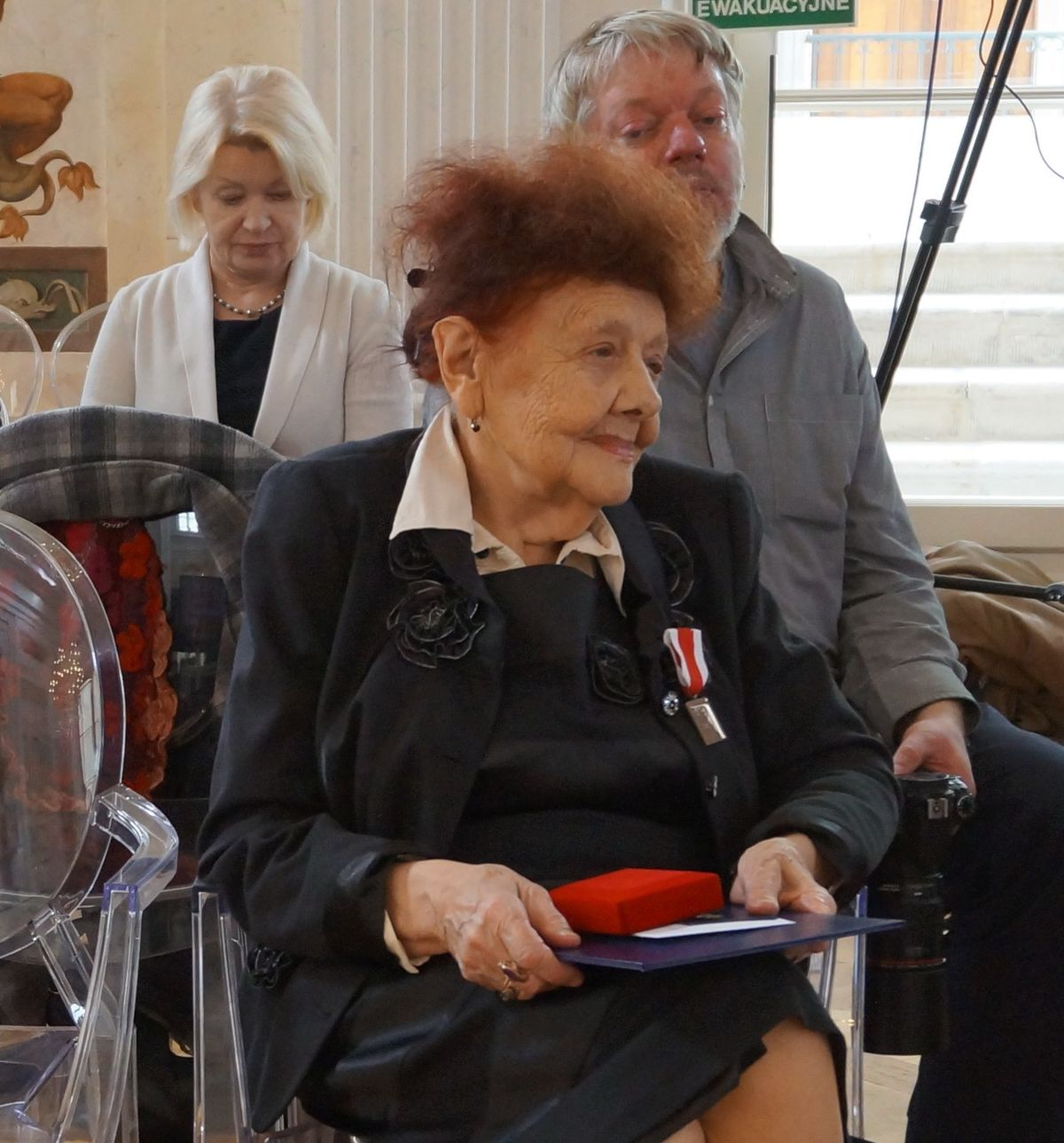 Під час урочистого вручення нагороди «Свідок Історії в Королівському палаці Лазєнки у Варшаві