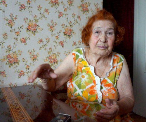 Соломія Марківна Пастушенко розповідає про пережите. Липень 2015 р.